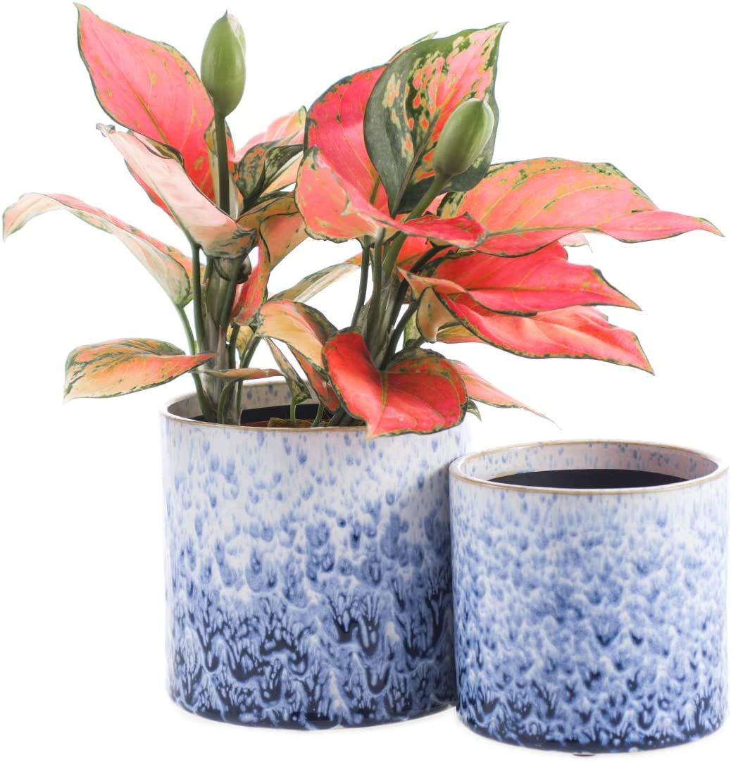 KYY Ceramic Planters Garden Flower with Pots security 5.5