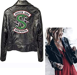 Southside Serpents Jacket Womens Riverdale Tv Series Cool Women's Faux Leather Fashion Quilted Racer Jacket