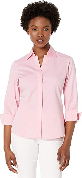 66bd5385479d4b Foxcroft Petite Paige Pinpoint Non Iron at Zappos.com