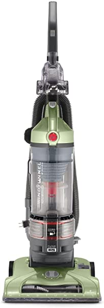HOOVER T Series WindTunnel Rewind Plus Upright Vacuum Cleaner With HEPA Filtration Lightweight And Corded Green UH70120