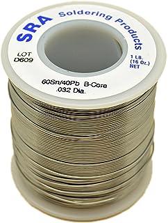 SRA Soldering Products WBC60/4032 Acid Flux Core Solder, 60/40 .032