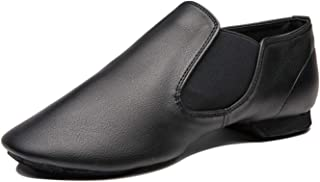Coolkuskates IIGDance Black Low Heel Jazz Dance Shoe Slips-on2 Dancing Shoes for Children Girl and Boy(Toddler/Little/Big Kid