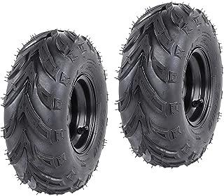 ZXTDR ATV Tires 145/70-6 Wheels with Rims | Tubeless tire for Go Kart UTV Quad Bike