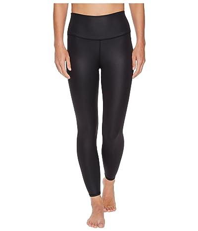 ALO 7/8 High Waist Airbrush Leggings (Black Glossy) Women