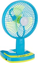 ISABELLA Powerful Rechargeable Table Fan with 19 LED Light, Table Fans for Home,Table Fans Small,Table Fans for Kitchen,Table Fans for Home Rechargeable,Table Fans high Speed(Assorted Color)