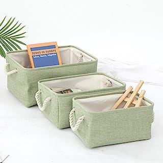 CNYG Panier de rangement pliable en tissu avec poignées, panier de rangement pour vêtements, jouets, armoire, boîte à goût...