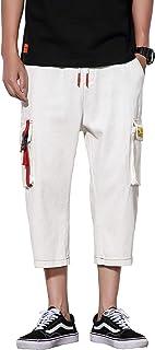 HeiKiデニム サルエル クロップドパンツ ハーフパンツ ボトムス 半ズボン ファッション スリム お洒落 ショートパンツ メンズ