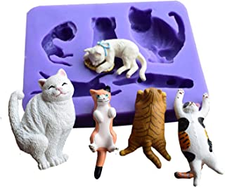Cute Cats Silicone Mold, Runloo Cats Cake decoration tool, chocolate mold, fondant mold Candy silicone mold