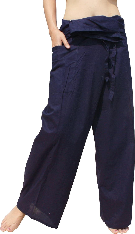 Raan Pah Muang Light Thin Muslin Cotton Thailand Fisherman Wrap Pants