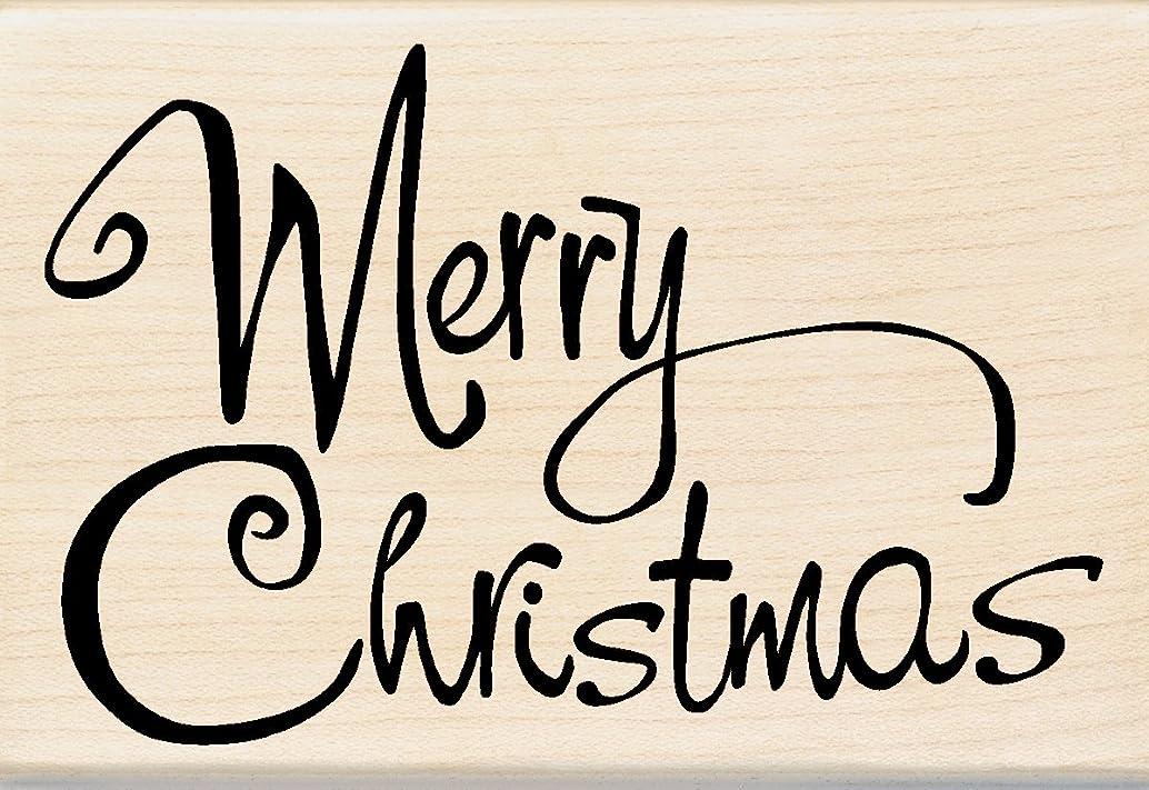Inkadinkado Whimsical Merry Christmas Wood Stamp