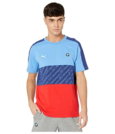 PUMA BMW MMS T7 Tee (Marina/Blueprint/High Risk Red) Men