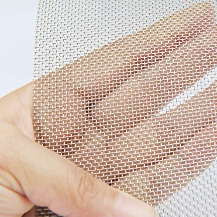 """TIMESETL 304 Stainless Steel Woven Wire 20 Mesh - 12""""X24"""" (30cmX60cm) - Rodent Mesh Insect Mesh Cabinets Wire Mesh Window Screen Mesh"""