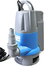 Submersible Clean/Dirty Water Sump Pump 1hp with built in Automatic ON/OFF (no external float switch needed) 3420GPH, 26'Head, Thermal Protector, Copper Winding - Schraiberpump