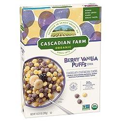 Cascadian Farm Organic Berry Vanilla Puffs Cereal 10.25 oz Box