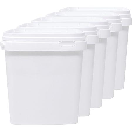 LG Luxury & Grace Lot de 5 Seau en Polypropylène Alimentaire, 5 L (21x19 cm). Recyclabes, 100% Libres de BPA.