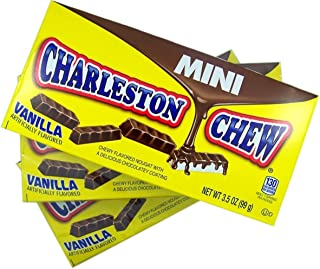 Mini Charleston Chew Vanilla Flavored Theater Box, 3.5 oz, Pack of 3