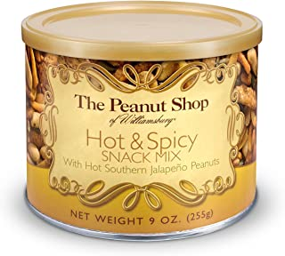 The Peanut Shop of Williamsburg Hot & Spicy Snack Mix, 9-Ounce Tin