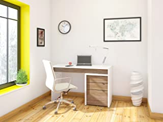 Liber-T 2 Piece Home Office Set White and Walnut