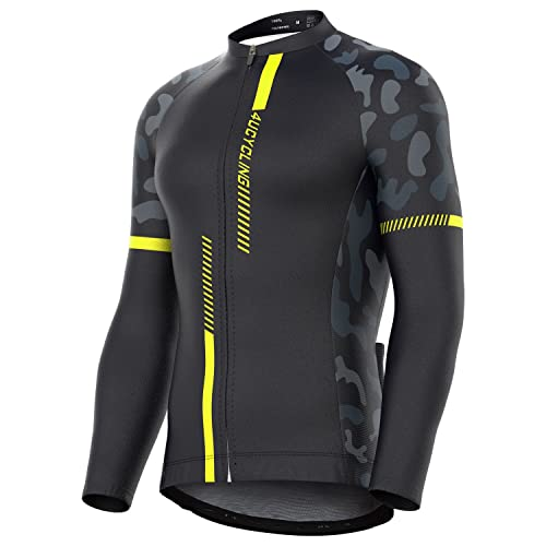 4ucycling Men s Team Wear Cycling Jersey Bike Shirt Long Sleeve Full Zip  Biking Jacket 3 Back 9573d11e9