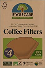 If You Care Unbleached Coffee Filters, #4 cone, 100 count. (J25001)