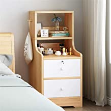 Bedroom Bedside Table Storage Cabinet Furniture Lightweight Accent Table Storage Drawer Unit for Hallway Entryway Closets ...