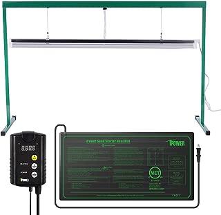 iPower 54W 4 Feet T5 Fluorescent Grow Light Stand Rack (6400k) and 10