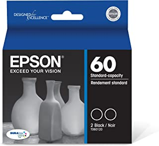 Epson T060120-D2 DURABrite Ultra Black Dual Pack Standard Capacity Cartridge Ink