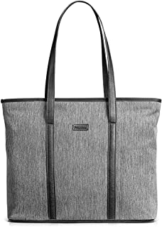tomtoc Laptop Tote Bag with Laptop Compartment for up to 15 Inch MacBook Pro, Lightweight Water Repellent Women Shoulder Bag Stylish Handbag for Business Work College Travel Party Shop, Gray