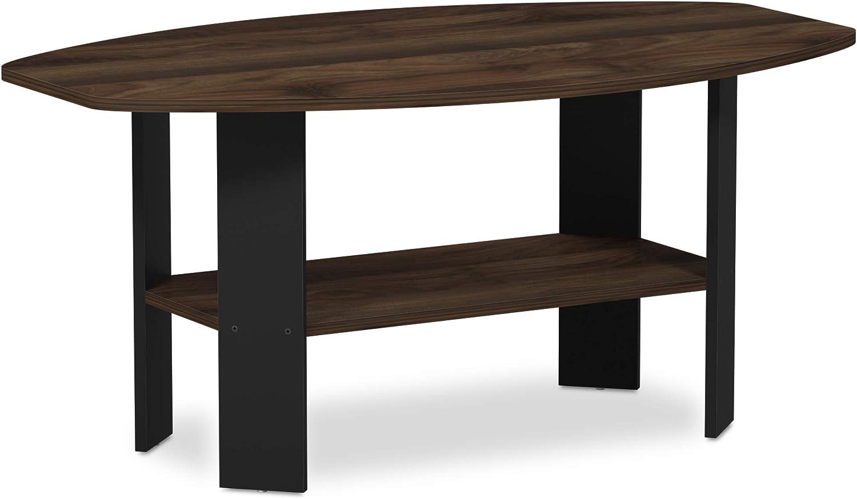 Furinno 11179CWN Simple Design, Coffee Table, Columbia Walnut Black