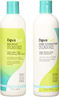 DevaCurl Decadence Duo: One Condition and No-Poo Cleanser Duo, 12 Ounce Each