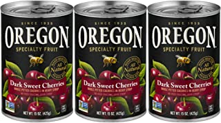 Oregon Specialty Fruit, Dark Sweet Cherries, Pitted, All-Natural, 15 Ounces, 3-Pack