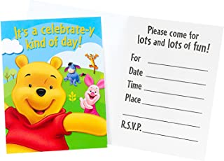 Pooh and Friends Invitations - 8 per pack