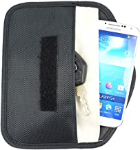 FoRapid Anti-Tracking Anti-Spying GPS RFID Signal Blocker Anti-Radiation Pouch Case Wallet Handset Function Bag for iPhone Cell Phone Health Privacy Protection Passport Car Key FOB Credit Cards -Black