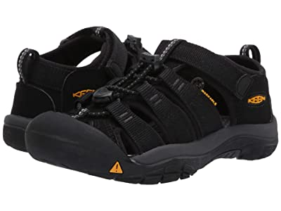 Keen Kids Newport H2 (Little Kid/Big Kid) (Black/Keen Yellow) Kids Shoes