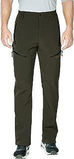 Nonwe Men's Outdoor Windproof Hiking Softshell Snow Pants