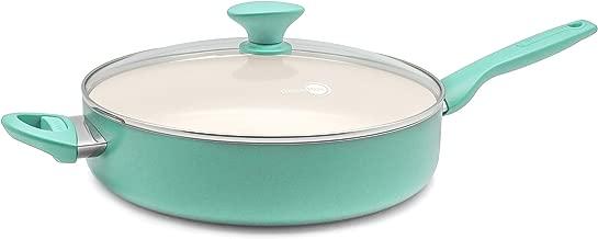 GreenPan CC002480-001 Rio Ceramic Skillet, 5QT, Turquoise