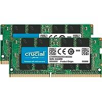 Crucial 32GB (2 x 16GB) PC4-19200 2400MHz DDR4 260-Pin SO-DIMM Memory