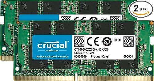 Crucial RAM 64GB Kit (2x32GB) DDR4 3200 MHz CL22 Laptop Memory CT2K32G4SFD832A