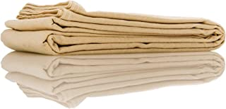 Seamless PUTTA Quality Cotton Canvas Art Tarp 6Oz Dropcloth Size:6'x9' Denim Stitch on Edges, Clean & odorless. Ideal for Painting, DIY Projects, Floor Protection, Curtains, and Furniture Cover.
