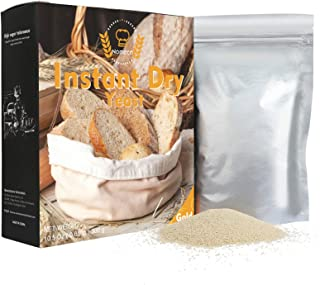 Nomeca Instant Dry Yeast for Bread Making, Fast Acting Instant Yeast for Baking Cake, Bread, Pizza and Sweet Dough, Gluten...