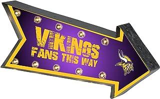 FOCO NFL Minnesota Vikings Arrow Light Up Marquee SignArrow Light Up Marquee Sign, Team Color, One Size