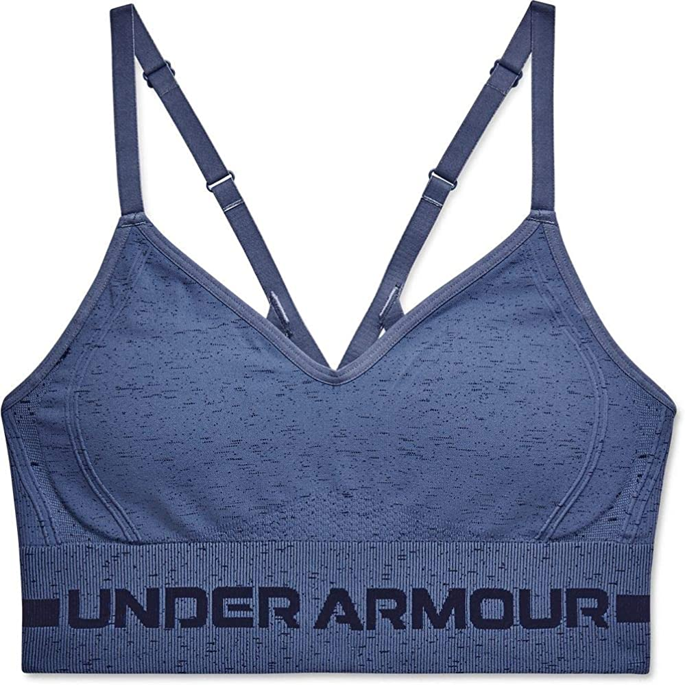 Under Armour Women's Seamless Low Impact Long Heather Bra: Clothing