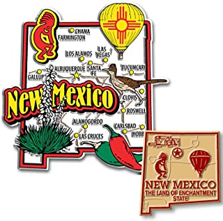 Santa Fe New Mexico License Plate Rectangle Magn Rectangle Magnet,Refrigerator Magnet 4 Holes Auto Tag Car Accessories 6 X 12