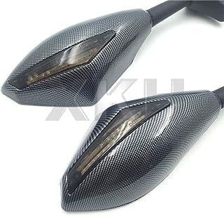 xkh  Carbon Blinker Spiegel mit Smoke Objektiv Fit für Suzuki GSXR 600/750 2001 2005 2009 2012/GSXR 1000 2001 2005, 2009 2012/GSXR 1100 1993 1998/Hayabusa 1999 2012