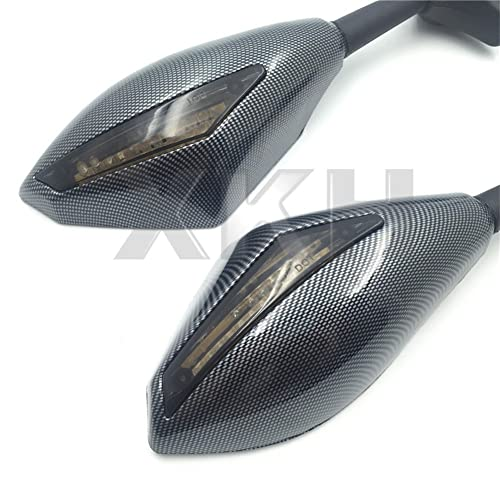 xkh- carbon turn signal mirrors with smoke lens fit for suzuki gsxr 600/750