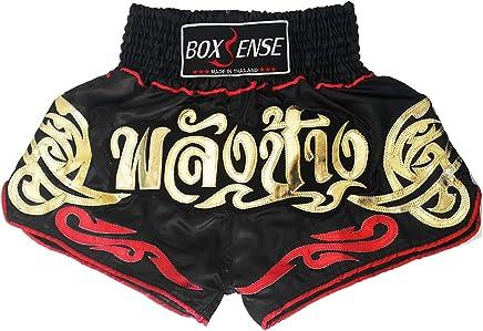 Boxsense Muay Thai Kick Boxen Hose Hosen Shorts   BXS-082-Schwarz-L B079YV23W7   | Mangelware