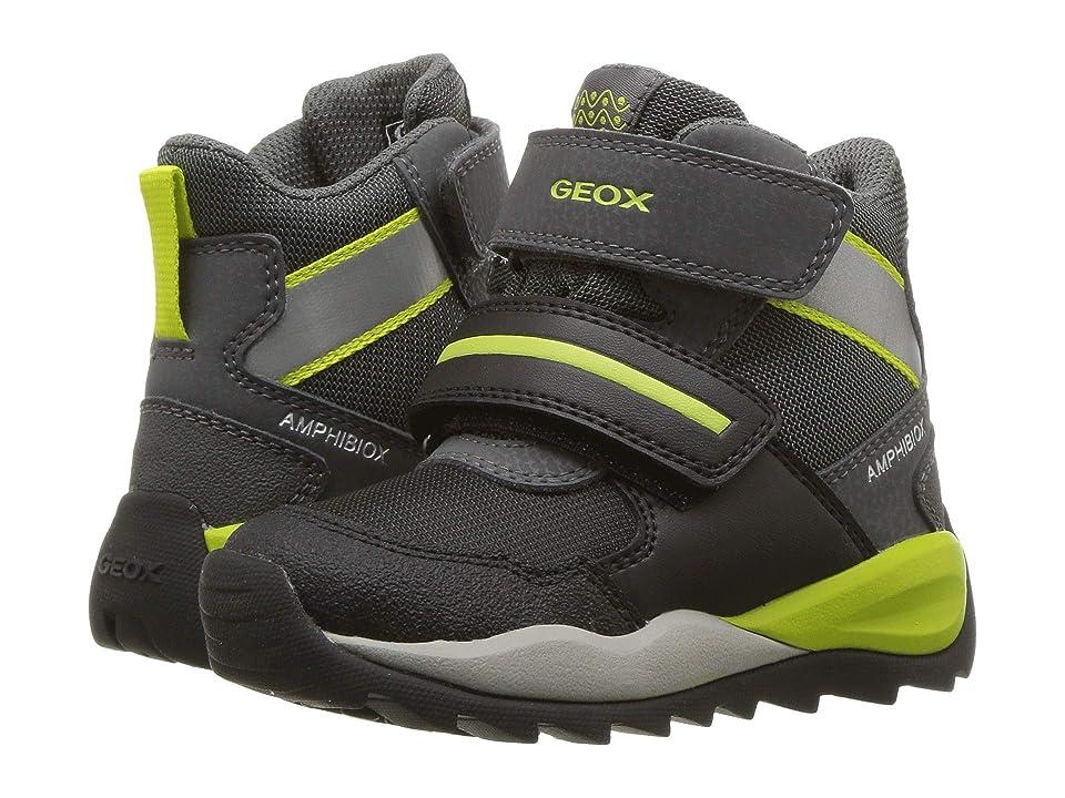 Geox Kids Orizont Boy Abx 11 (Toddler/Little Kid) (Black/Lime) Boy