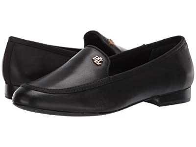 LAUREN Ralph Lauren Clair (Black/Black Super Soft Leather/Grosgrain) Women