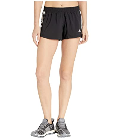 adidas 3-Stripe Woven Shorts (Black/White) Women