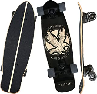 "B&S.LIN 27.5 ""x 8"" Skateboard is a Versatile Skateboard That You can Ride Around and do Stunts with. Complete Assembled Cruiser Board Set.Best Bang for Your Buck"
